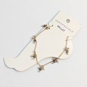 💢3 for $25💢Aeropostale Gold Beaded Anklet